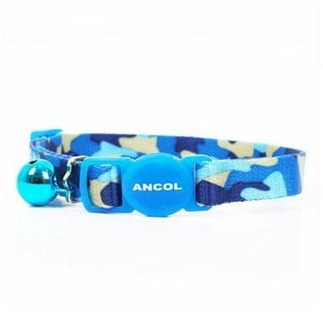 Ancol Cat Collar Camo Blue