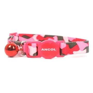 Ancol Cat Collar Camo Pink