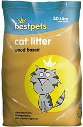 Best Pets Wood Based Cat Litter 30Ltr