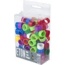 Poultry Clic Leg Ring Assorted Colours 12mm x 100 Pack