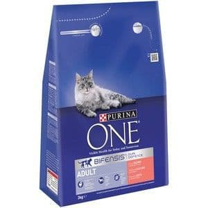 Purina One Adult Cat Salmon & Whole Grain 3kg