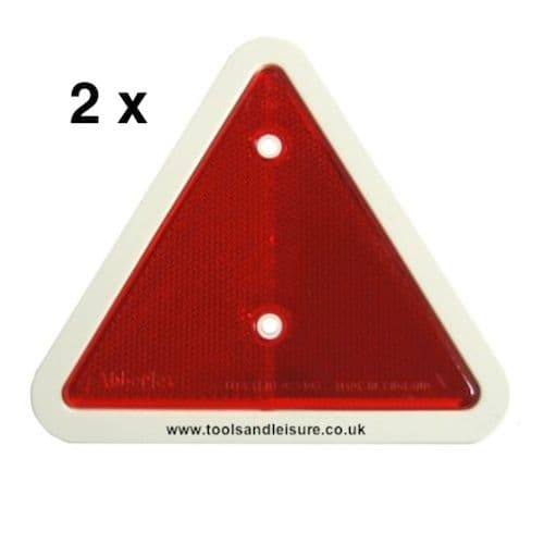 2 x Red Trailer Triangles With White Surround