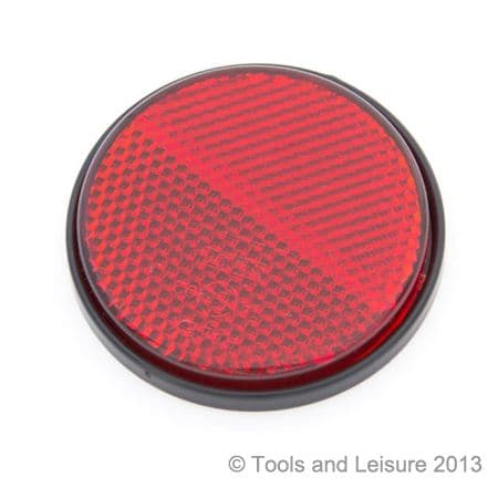 Round RED Self Adhesive Reflector