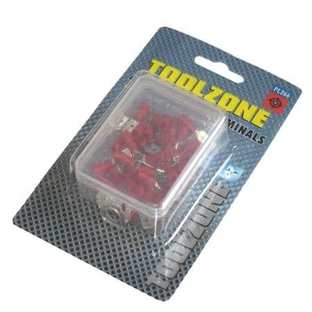 Toolzone 40pc Red Male Crimping Terminals