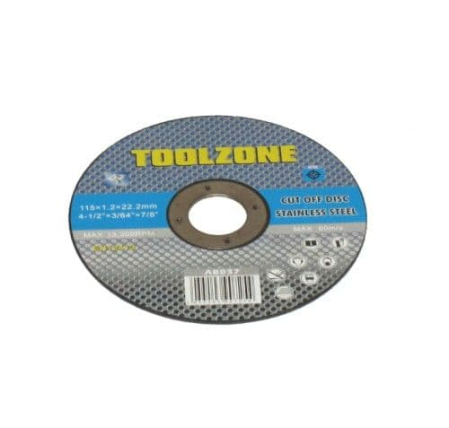 Toolzone Tools 4 1/2'' Stainless Steel Cutting Disc