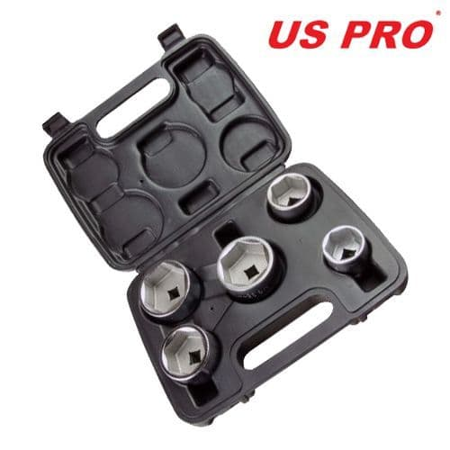 US Pro by Bergen Tools 5pc 3/8'' DR Cup Type Oil Filter Wrench Set
