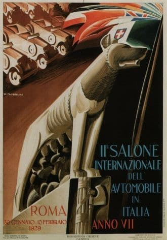 11th Salone Internazionale Automobile ~ Roma Poster
