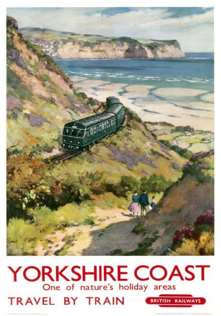Yorkshire Coast, One of Natures Holiday Areas. Vintage BR Travel poster. 1959