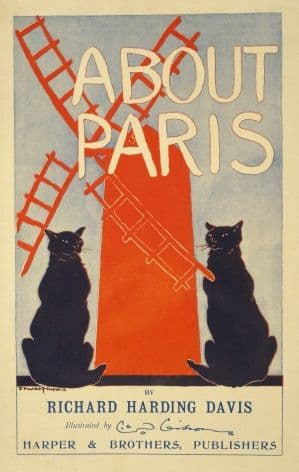 About Paris, by Richard Harding Davis. Vintage Book Poster.