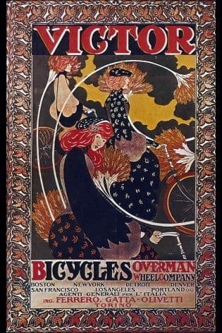 American cycling poster - Victor cycles
