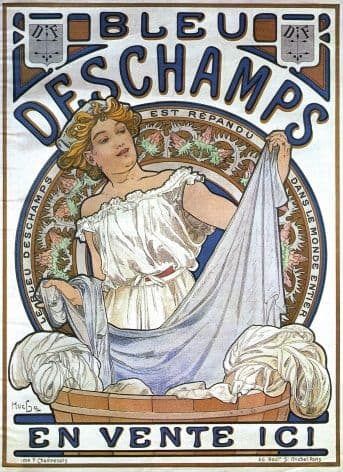 Art Deco Poster Bleu Deschamps