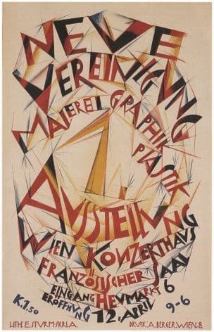 Austrian travel poster - Art exhibition 1920