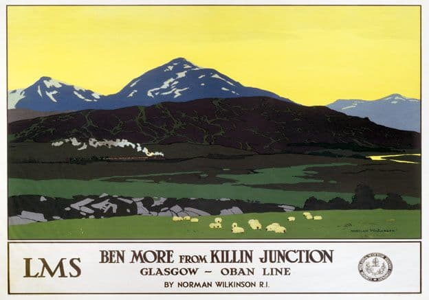 Ben More from Killin Junction. LMS Vintage Travel Poster by Norman Wilkinson