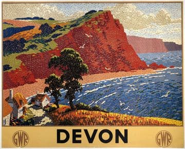 Devon. Vintage GWR Travel poster by Ronald Lampitt
