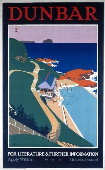 Dunbar, Scotland.  London & North Eastern Railway travel poster
