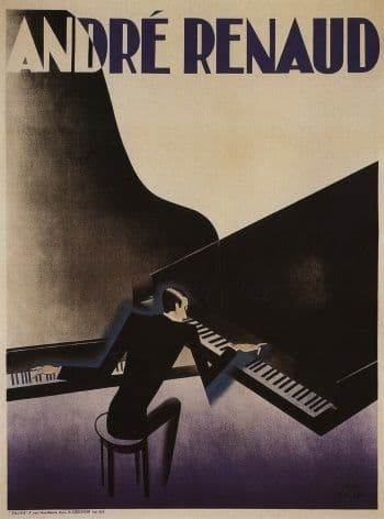 French pianist Andre Renaud poster - 1929