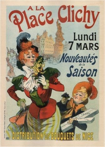 French poster advertising the shop A La Place Clichy, 1898
