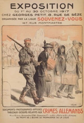 French WW1 poster - Exposition du 1er au 30 octobre 1917