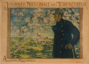 French WW1 poster - Journé Nationale des Tuberculeux. Anciens Militaires
