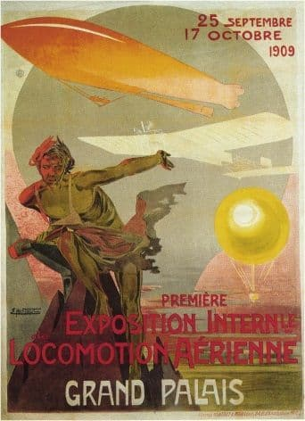 Grand palais - First International Air Show poster (1909)