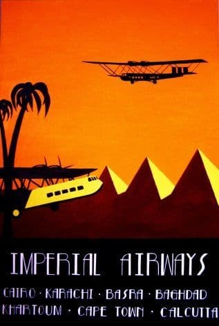 imperial Airways - Cairo, Karachi, Cape Town