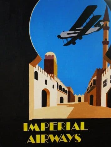 Imperial Airways vintage aviation poster