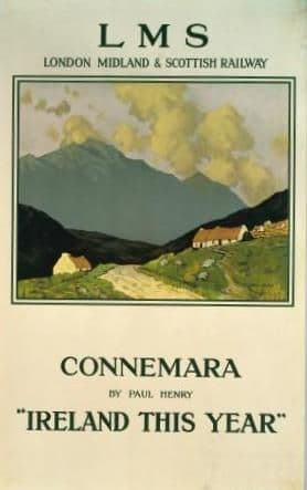 Irish Railway poster, Connemara Ireland by Paul Henry