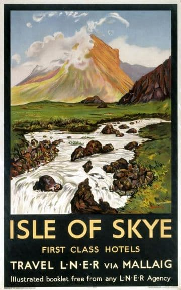 Isle of Skye, Scotland, Vintage Railway Travel Poster Print by LNER