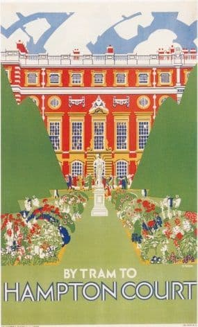 London underground poster - Hampton Court