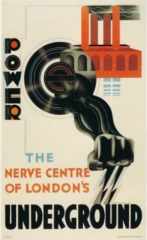 London underground poster - Nerve centre of London's underground