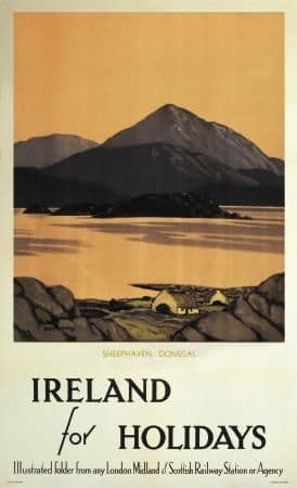 Paul Henry Irish Travel Poster, Donegal, Sheephaven, Ireland