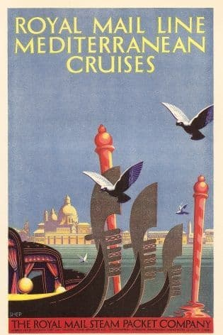 Royal Mail Cruises advertisment poster