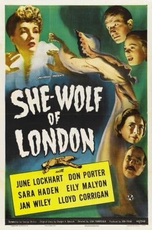 She Wolf of London Vintage Movie Poster