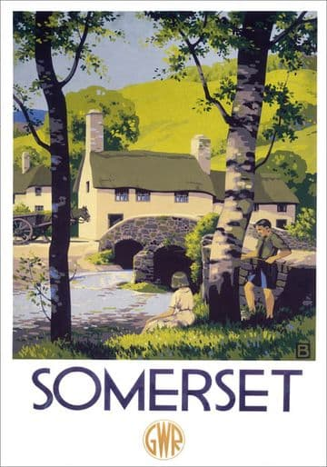 Somerset. GWR Vintage Travel Poster by John Bee. 1939
