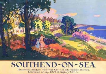 Southend-On-Sea, Vintage Railway Travel Poster Print by LNER