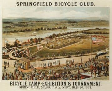 Springfield bicycle club - MASS, USA 1883