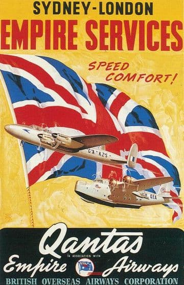 Sydney-London Empire Services, Quantas Empire Airways, British Overseas Airways Corporation, B.O.A.C