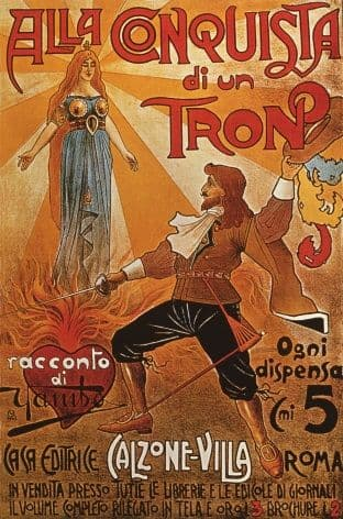 Theatre advertisement poster - Alla Conquista di un Tron