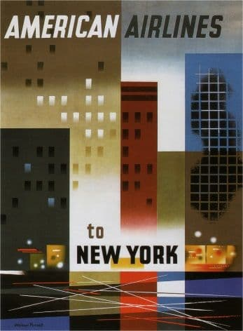 Travel poster, American airlines to New York