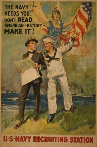 "U.S Navy Poster ""The Navy needs you!"""