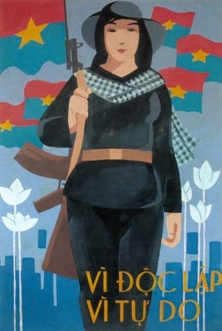 Vietnam Propaganda Poster, 'For independance and freedom'.