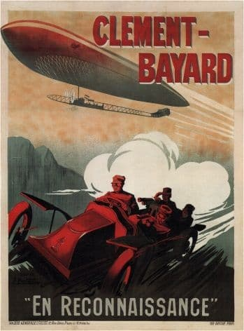 Vinatge car advertisment poster - Clement-Bayard