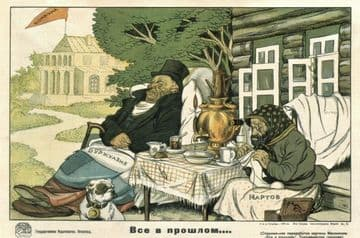 Vinatge Russian poster - All in the past