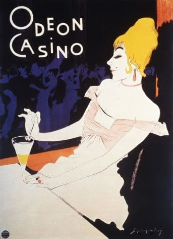 Vintage advertisment psoter - Odeon casino