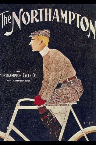 Vintage American cycling poster - The Northampton cycle Co.