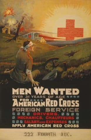 Vintage American Red Cross Foreign Service Poster