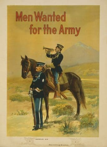 Vintage American WW1 Army Recruitment Poster