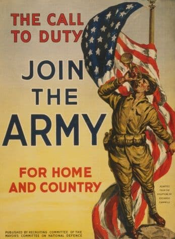 Vintage American WW1 Recruiting Poster