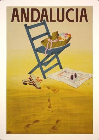 Vintage Andalucia Travel Poster