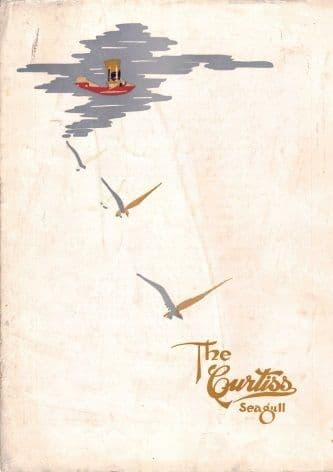 Vintage aviation poster - Curtiss Seagull 1919